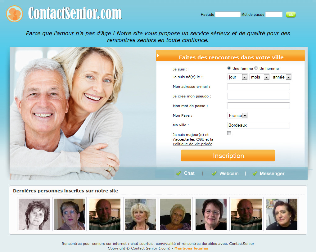 Sites de rencontre gratuites seniors